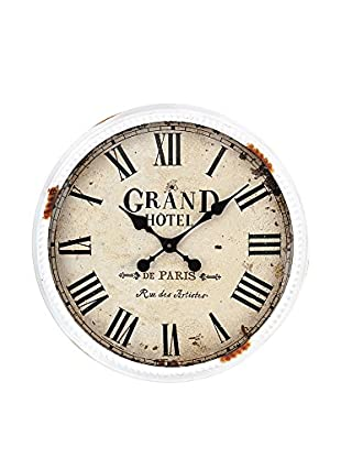 Contemporary Wood Reloj De Pared Grand Hotel Blanco