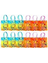 "SpongeBob SquarePants Party Favor Goodie Gift Bag - 6"" Small Size (12 Packs)"