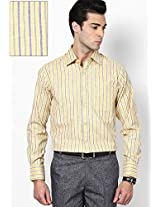 Striped Yellow Formal Shirt
