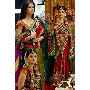 Fabiona Aishwarya Rai Bridal Saree - Red
