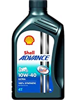 Shell Advance Ultra 550025035 10W-40 Fully Synthetic Motorbike Engine Oil (1 L)