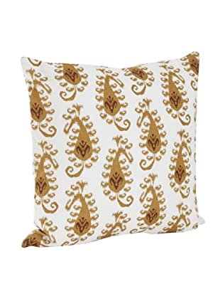 Saro Lifestyle Mustard Ikat Design Pillow