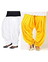 Bansal Collection Cotton Patialas (Pack Of 2)