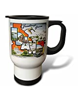 3dRose Greetings from Idaho Sun Valley Boise with Scenes from The State Travel Mug, 14-Ounce