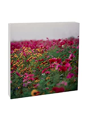Art Block Meadow & Flowers- Fine Art Photography On Lacquered Wood Blocks