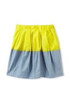 kicokids Girl's 2-Texture Parachute Tulip Skirt (Citrus/Surf)