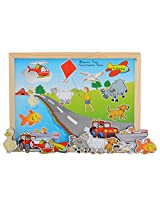 Skillofun Wooden Magnetic Twin Play Tray - Classification Game, Multi Color