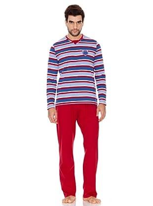 Kiff-Kiff Pijama Largo Punto Hombre (Multicolor)