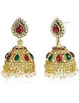 Ava Traditional Jhumki Earrings for Women (Golden) (E-VS-1923)