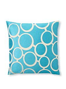 Trina Turk Embroidered Spectacles Pillow (Blue)