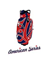 """Spin It Golf Products American Series """"Easy Play"""" Golf Cart Bag, Red/Blue"""