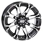 4/110 STI HD3 Alloy Wheel 12x7 2.0 + 5.0 Black Machined ARCTIC CAT BOMBARDIER CAN-AM CANNONDALE HOND...
