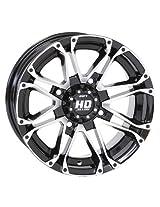 4/110 STI HD3 Alloy Wheel 12x7 5.0 + 2.0 Black Machined BOMBARDIER HONDA JOHN DEERE KAWASAKI KYMCO POLARIS SUZUKI YAMAHA