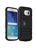 Galaxy S6 Case - KAYSCASE Heavy-Duty Belt Clip Dual-layer ArmorHolster Hybrid Cover Case for the Samsung Galaxy S6 Smart Phone 2015 Version (Lifetime Warranty) (Black)