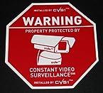 2 Pack! CCTV Security Camera Warning Signs 9