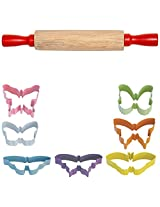 FlavorTools Kids Vibrant Colorful Butterfly Cutter Gift Set (7-Piece)