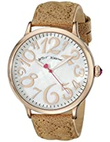 Betsey Johnson Women's BJ00496-06 Analog Display Quartz Brown Watch
