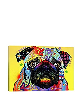 Dean Russo Pug Gallery Wrapped Canvas Print