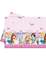 Disney Princess Glamour Plastic Table cover, Multi Color (120 X 180cm)