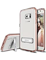 Galaxy S7 Case, OBLIQ [NaKED SHIELD][Rose Gold][Metal Kickstand] Slim Fit Crystal Clear Scratch Resist Heavy Duty Protection Dual Layer Case for Samsung Galaxy S7(2016)