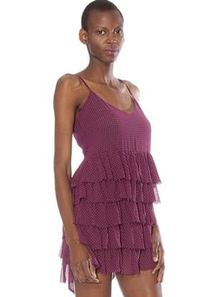 Fornarina Vestido Dilaila (malva / negro)