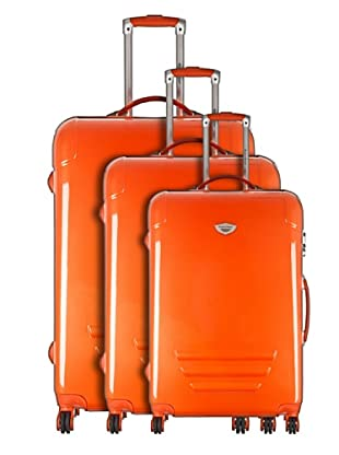 American Revival by Platinium Set 3 Trolleyss 4 Ruedas Colors (Naranja)