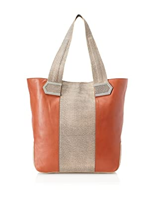 Allibelle Women's Stripes Market Tote, Copper/Gobi