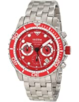 red line Men's RL-50034-55-RD-BZ Piston Chronograph Red Dial Watch