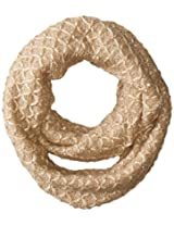 RAMPAGE Women's Sequin Textured Knit Infinity Loop Scarf