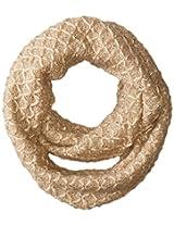 RAMPAGE Women's Sequin Textured Knit Infinity Loop Scarf