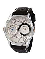 Exotica Analog White Dial Men's Watch (EF-80-Dual-White)