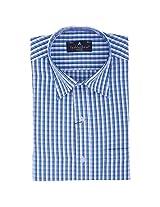 Fashionbean Blue & Black Check Shirt for Men