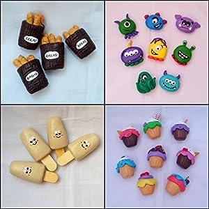 PinkFeather Cakie Fridge Magnets - Set Of 4