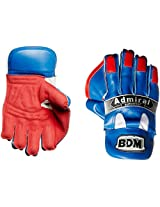 BDM Admiral Super Test Wicket Keeping Gloves, Men's (Blue/Red)