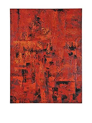 Surya Red Wall Décor, Multi, 48