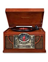 Crosley CR7008A-PA Symphony 3-Speed Turntable with CD Player and Portable Audio Ready (Paprika)