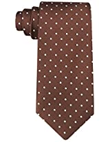 Scott Allan Men's Polka Dot Necktie - Brown & White Tie