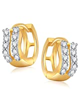 Meenaz Bali Earrings For Girls And Women Gold Plated In American Diamond Cz B168