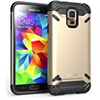 i-Blason Samsung Galaxy S5- Armadillo Series 2 Layer Armored Hybrid Cover with Inner Soft Case and Hard Outter Shell AT&T, Verizon, Sprint, T-Mobile (Galaxy S5, Gold)