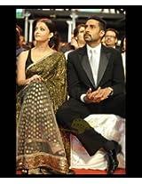 Aishwarya Rai Raavan Promo Saree With Black Net Palla