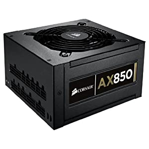 Corsair Professional Series  AX 850 Watt ATX/EPS Modular 80 PLUS Gold (AX850)