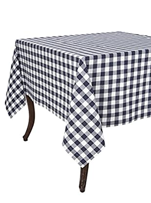 KAF Home Buffalo Check Tablecloth, Navy, 60