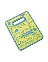 Farberware 2-Tone Non-Slip Cutting Board (Blue/Green, 8x10-Inch)