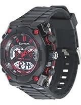 Sonata Men's Analog and Digital Watch 77030Pp01