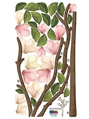 Ambiance Live Wandtattoo Pink Magnolia mehrfarbig