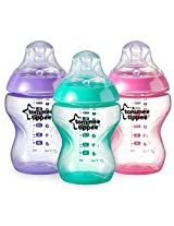 Tommee Tippee Closer to Nature Colour My World Bottle Girl, 9 Ounce, 3 Count