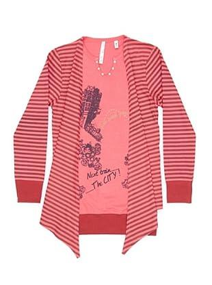 New Caro Camiseta Sobrecamisa (Rosa)