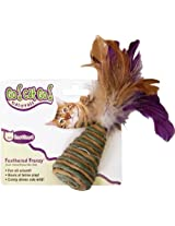 OurPets Feathered Frenzy w/ Cone Natural Cat Toy