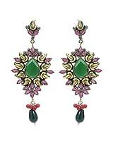 Silver Selection Onyx Metal Dangle & Drop Earrings for Women
