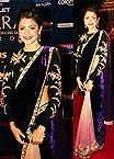 bollywood Anushka sharma velvet pallu half half bollywood saree